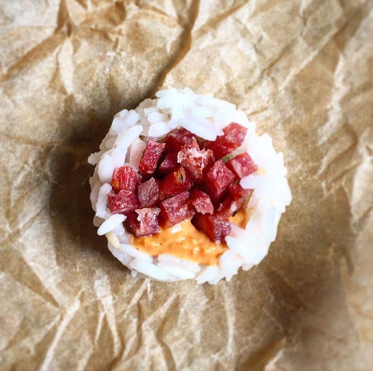 Sushi: Salami and Hummus