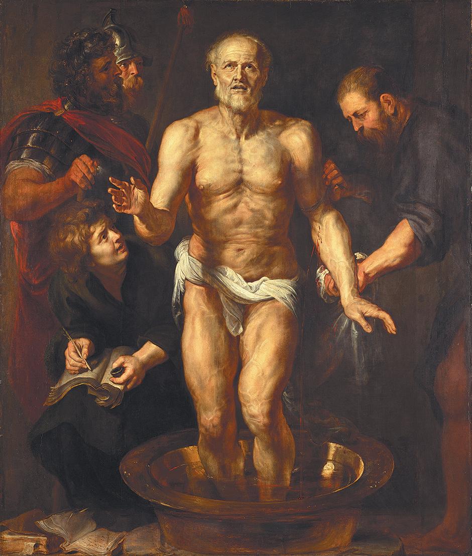 The Death of Seneca by Peter Paul Rubens...the Flemish painter, not Pee Wee Herman