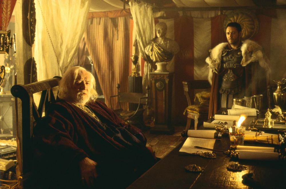 Marcus Aurelius talking to Maximus