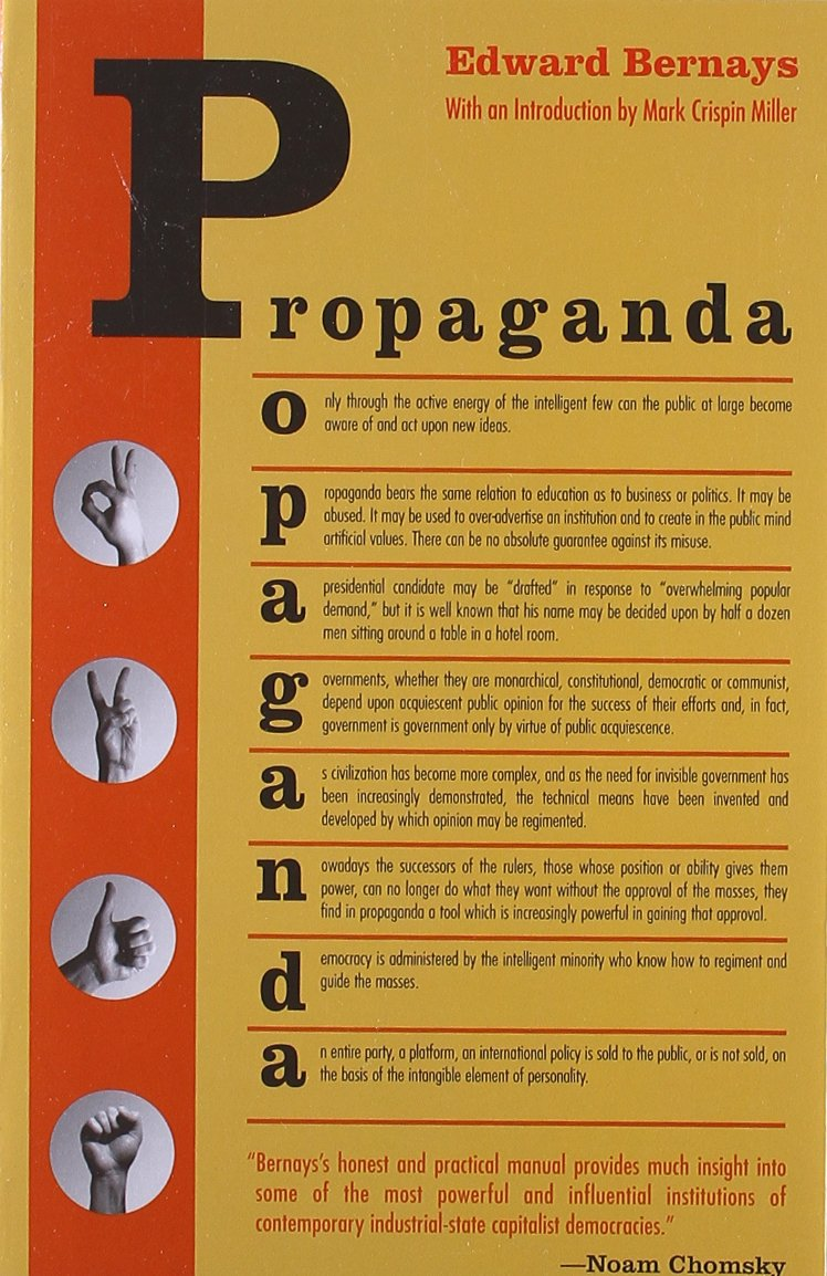 The cover of Edward Bernays popular 1928 book on how to influence the masses.