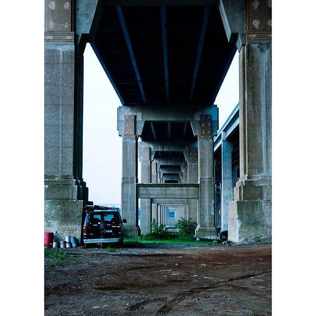 Under the bridge.  #sunrise #newjersey #rhcp #streetphotography