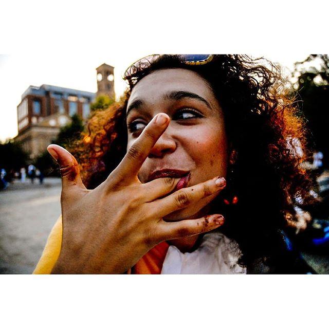 #throwback #nyc #nyu #washingtonsquarepark #crepes #chocolate #eve #portraits