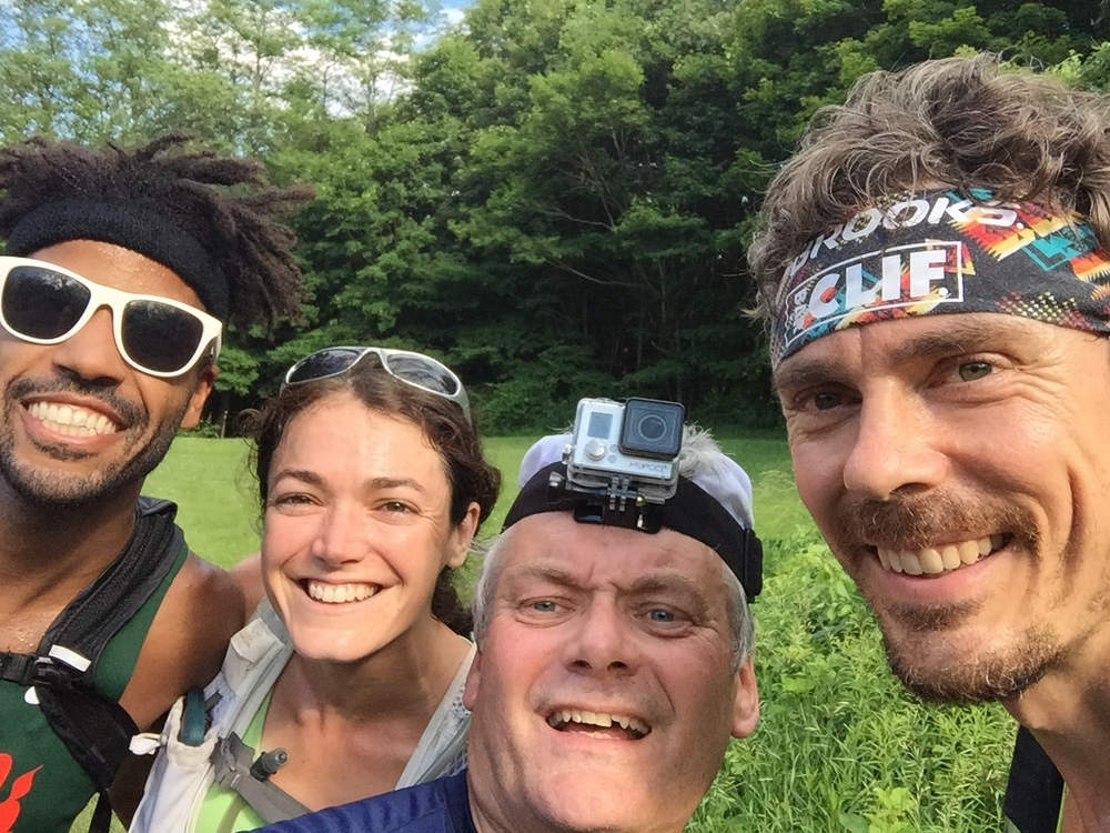 From Left: Knox Robinson, Kali Bird, Chris Cassone, Scott Jurek. Photo by Chris Cassone
