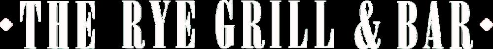 Rye Grill & Bar Logo white