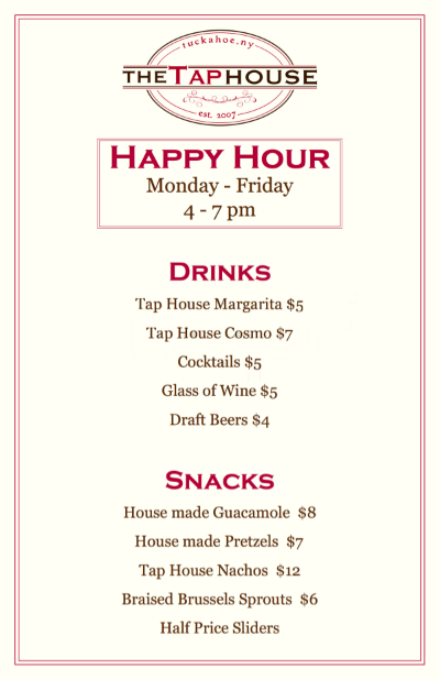 Tap House Happy Hour