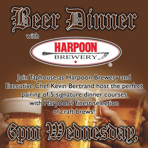 Tap House Harpoon Beer Dinner