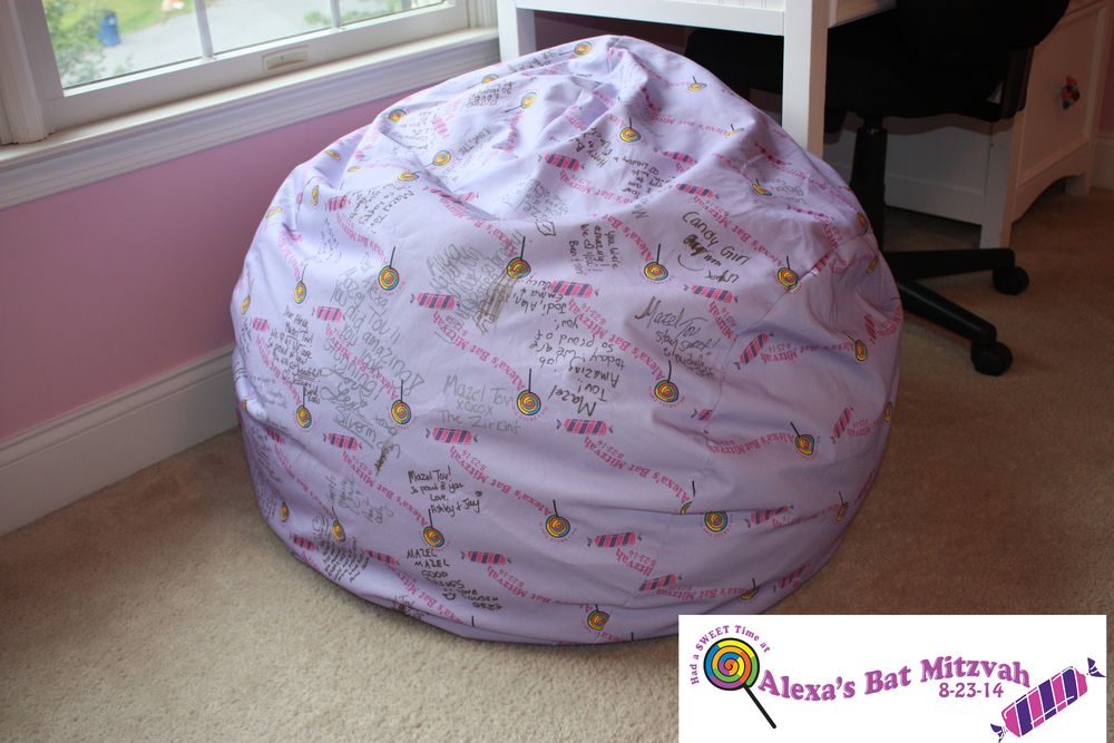 Everything was amazing! The beanbag was a HUGE success! My younger daughter thinks she wants the same for her signin! Thanks again so much for going the extra mile and making it special for us.  HC, Maryland