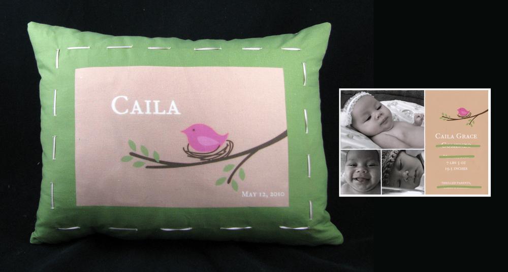 CAILA'S BIRDIE PILLOW