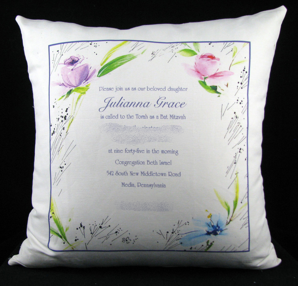 JULIANNA'S FLORAL PILLOW