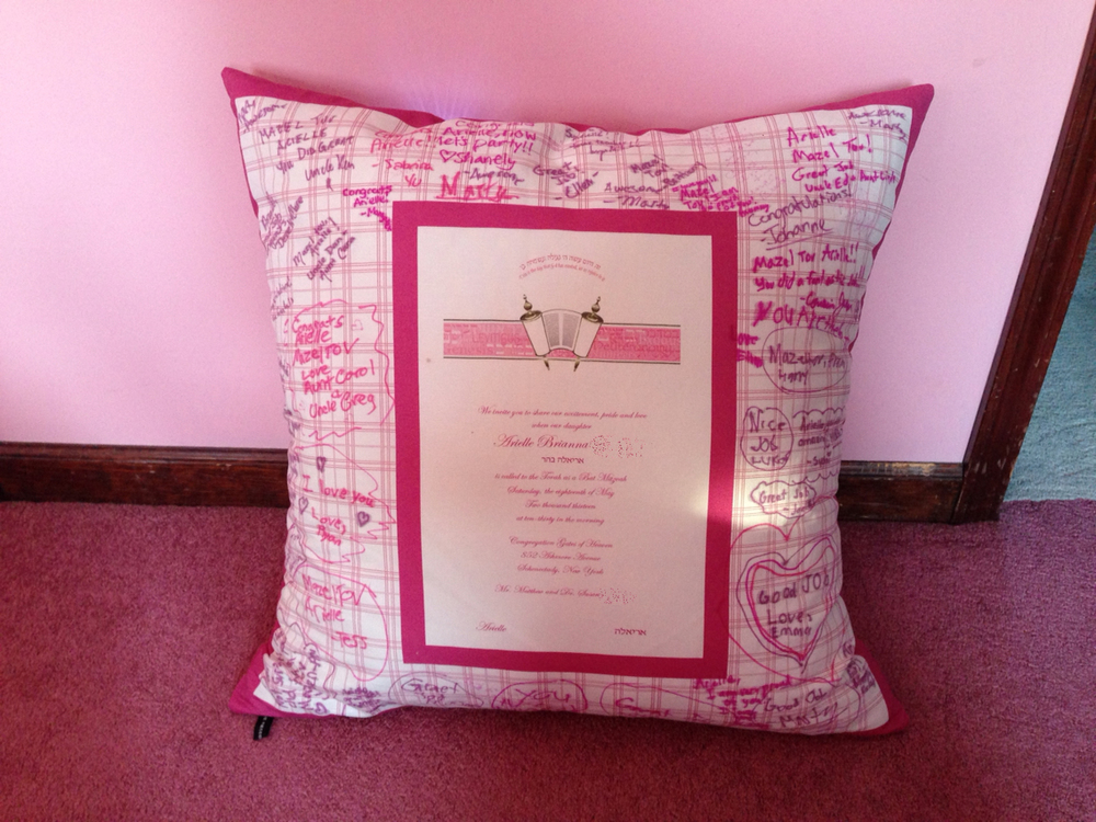 "ARIELLE'S PINK PLAID (24"") PILLOW"