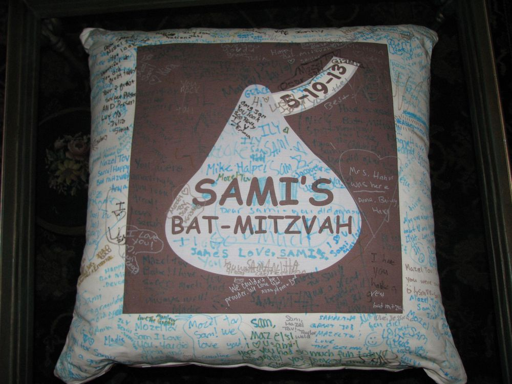 "SAMI'S HERSHEY KISS (27"") PILLOW"