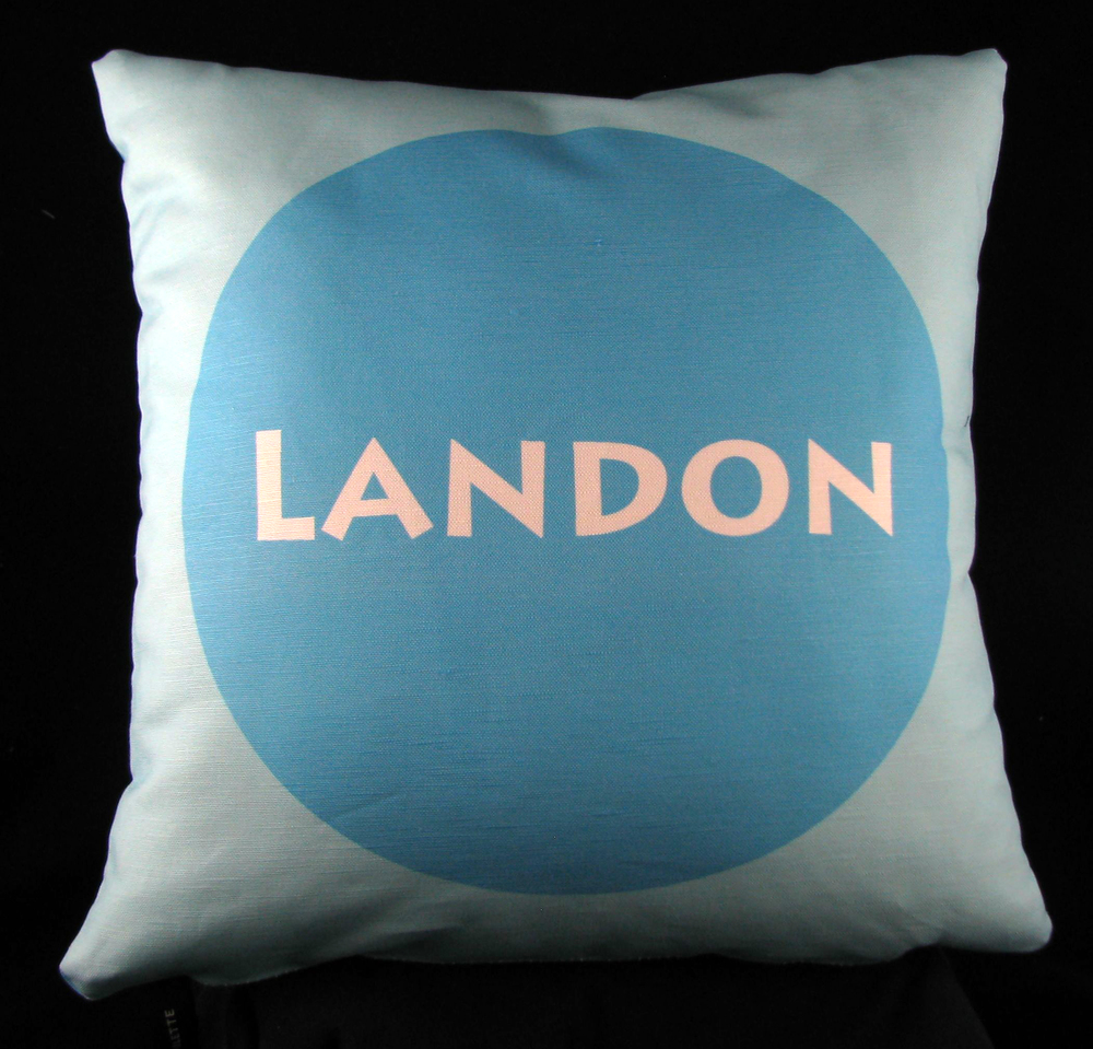 Center Circle Personalized Pillow