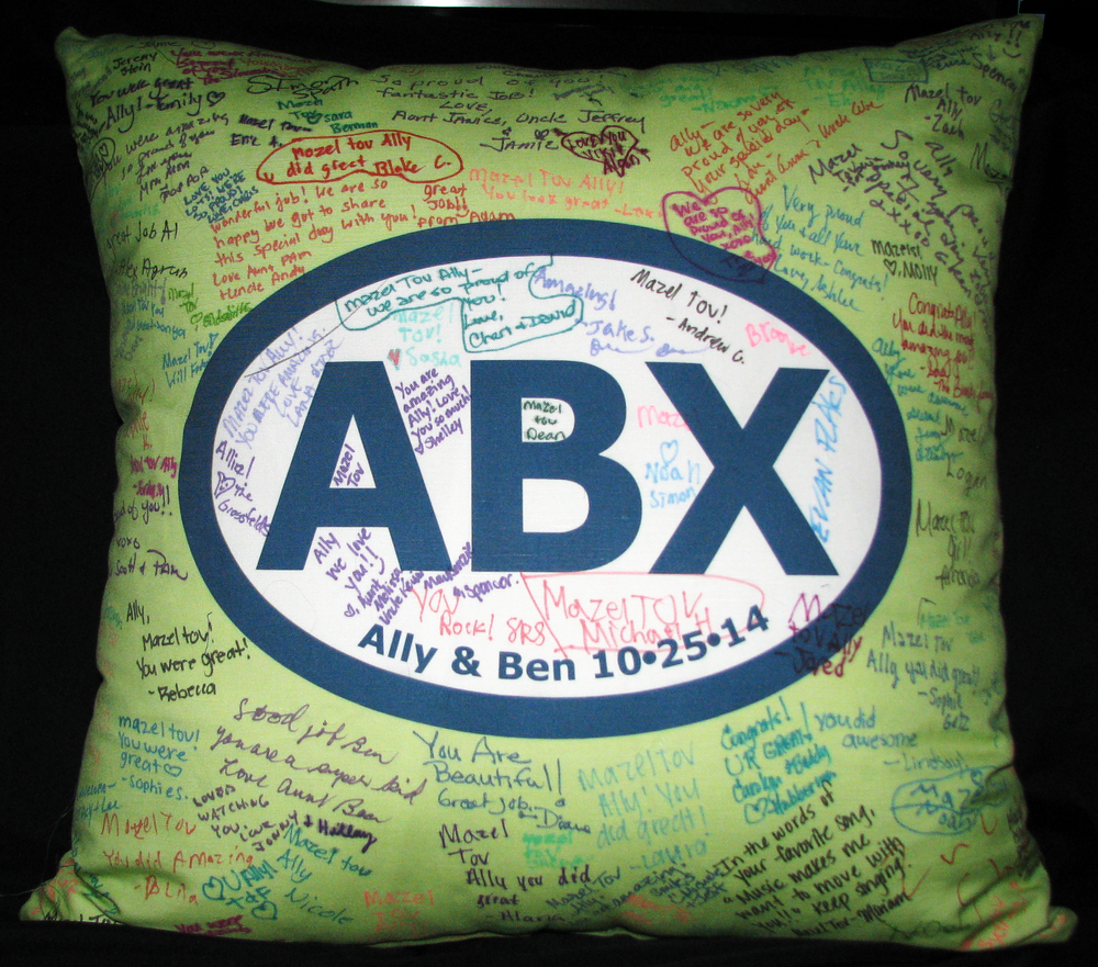 "ALLY&BEN'S ABX STITCHED (27"") PILLOW"