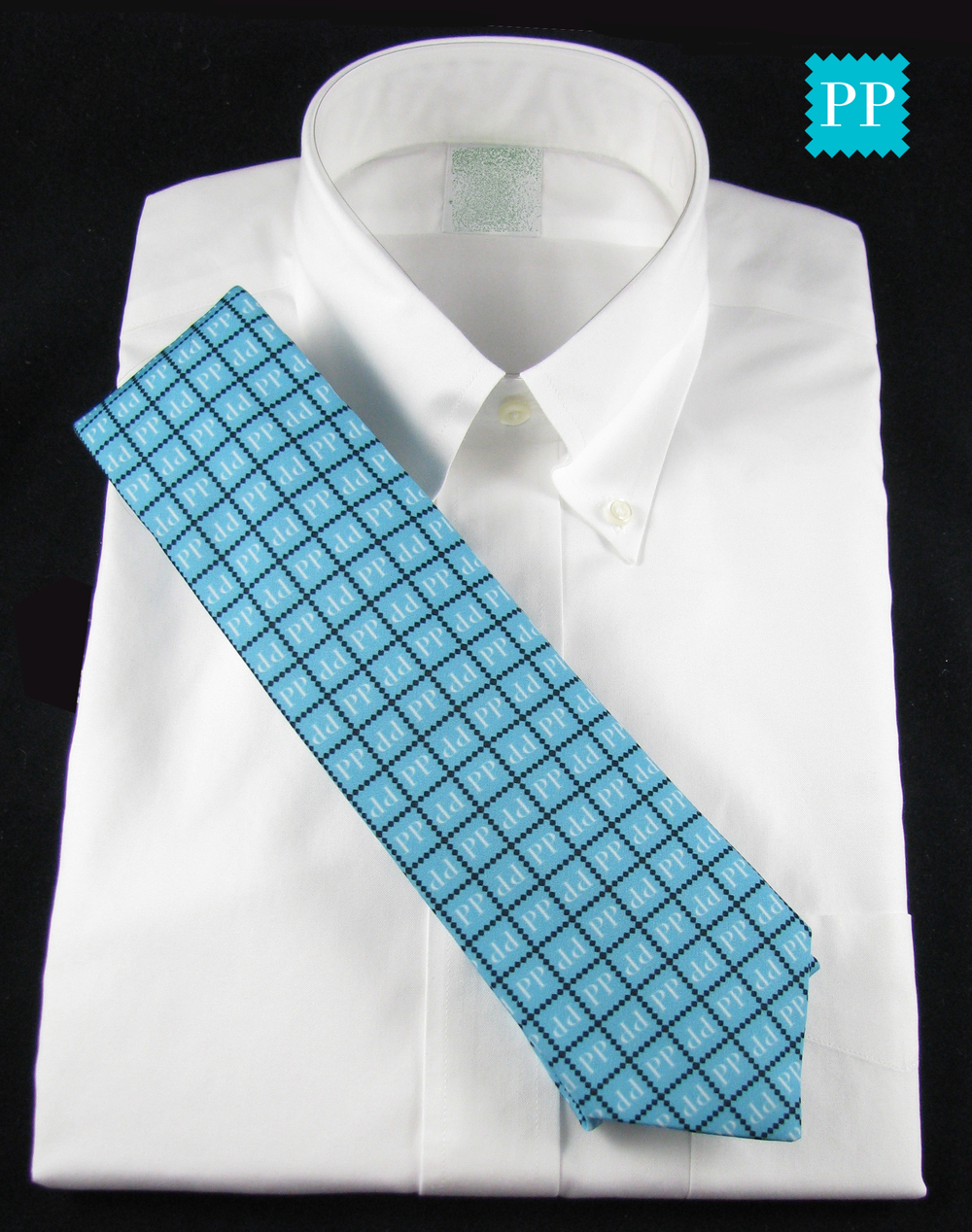 Our social media logo on a necktie. Silky Faille Necktie