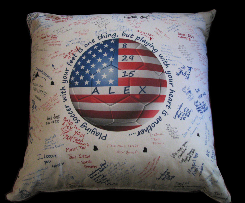 ALEX'S WORLD CUP PILLOW