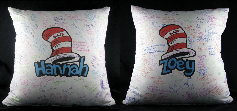 "HANNAH AND ZOEY'S (20"") DR. SEUSS PILLOWS"