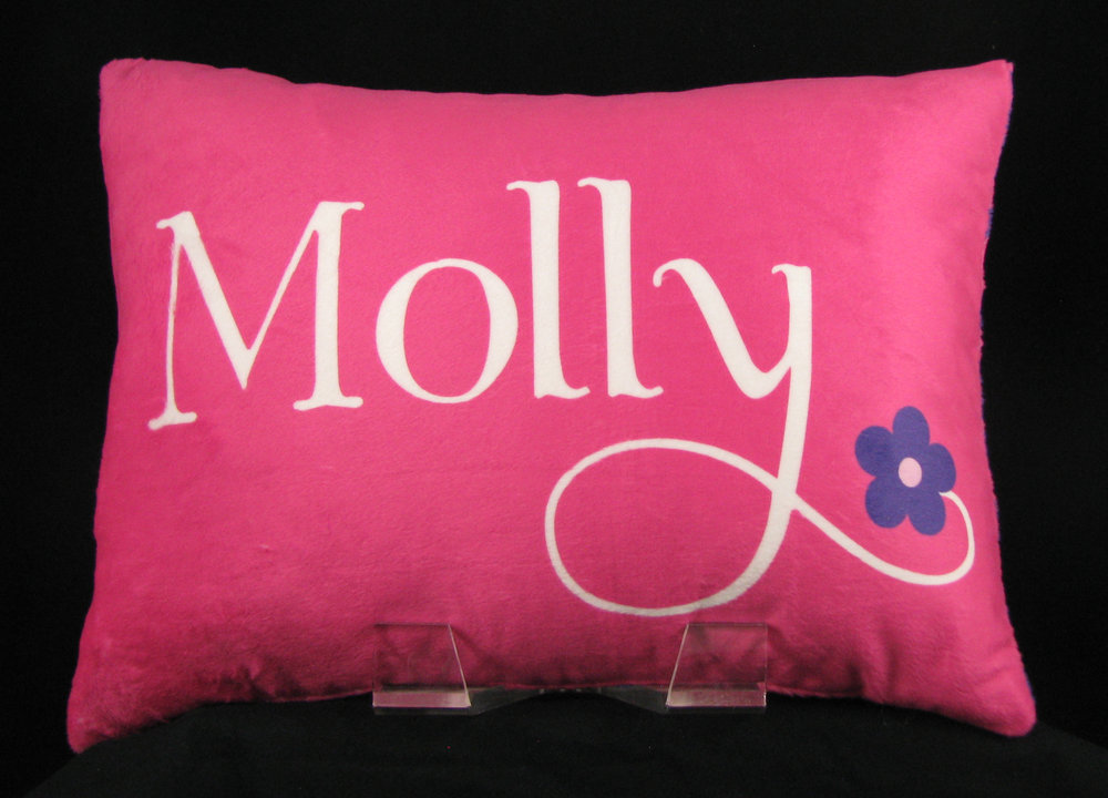 Flower Power Personalized Pillow