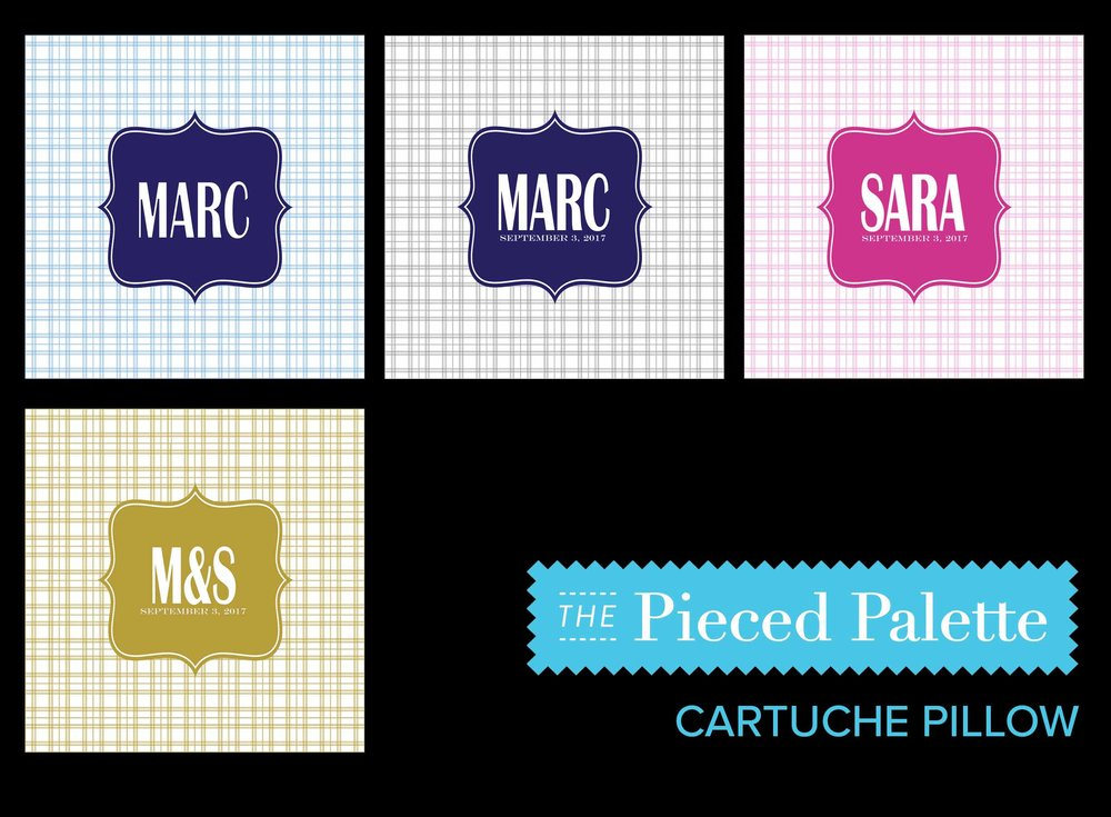 MEDALLION PILLOWS: Blue on blue plaid, blue on grey plaid, deep pink on deep pink plaid. If you want different colors, email us at  info@thepiecedpalette.com about a CUSTOM ORDER.