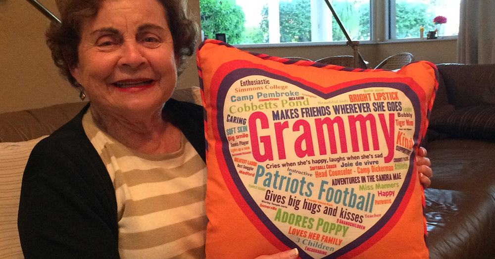 Grammy's Heart Memory Pillow