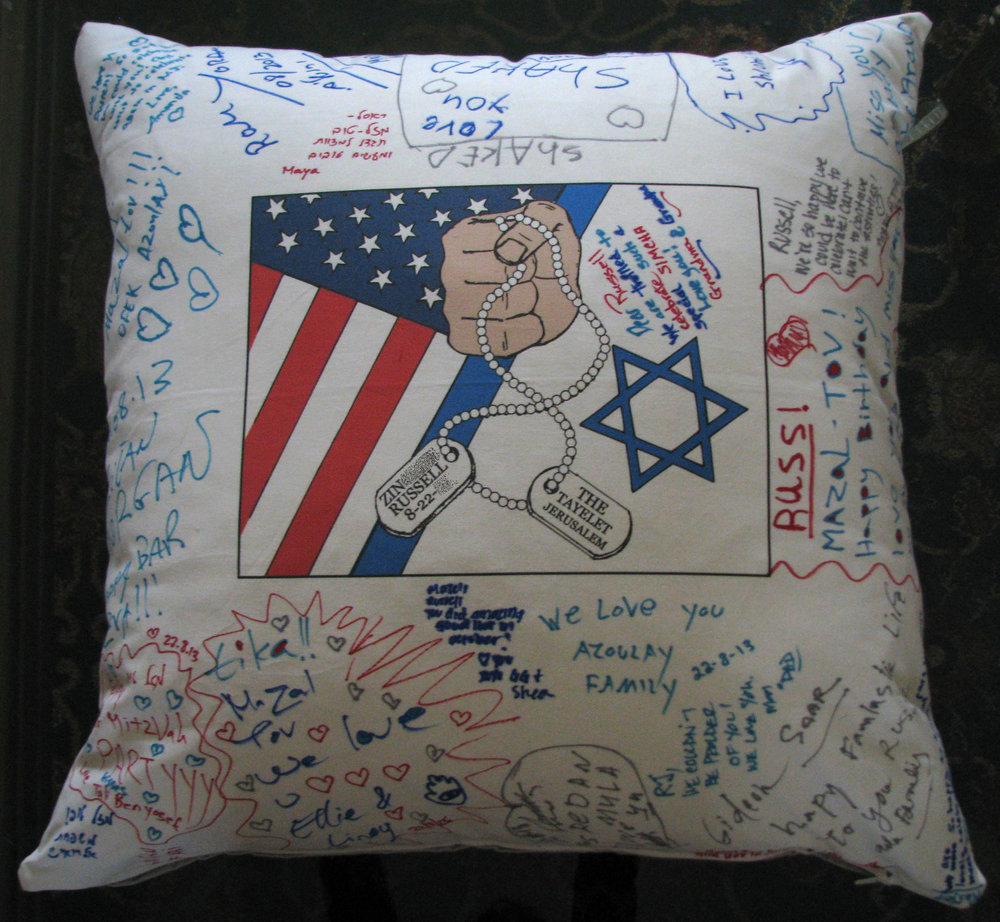 "RUSSELL IN ISRAEL (27"") FLOOR PILLOW"