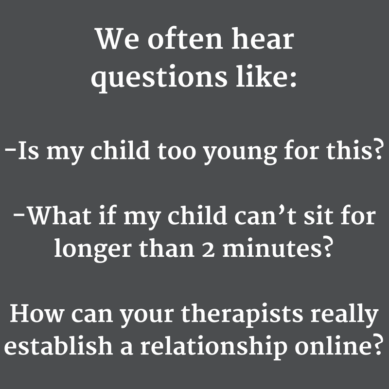 does online therapy help children
