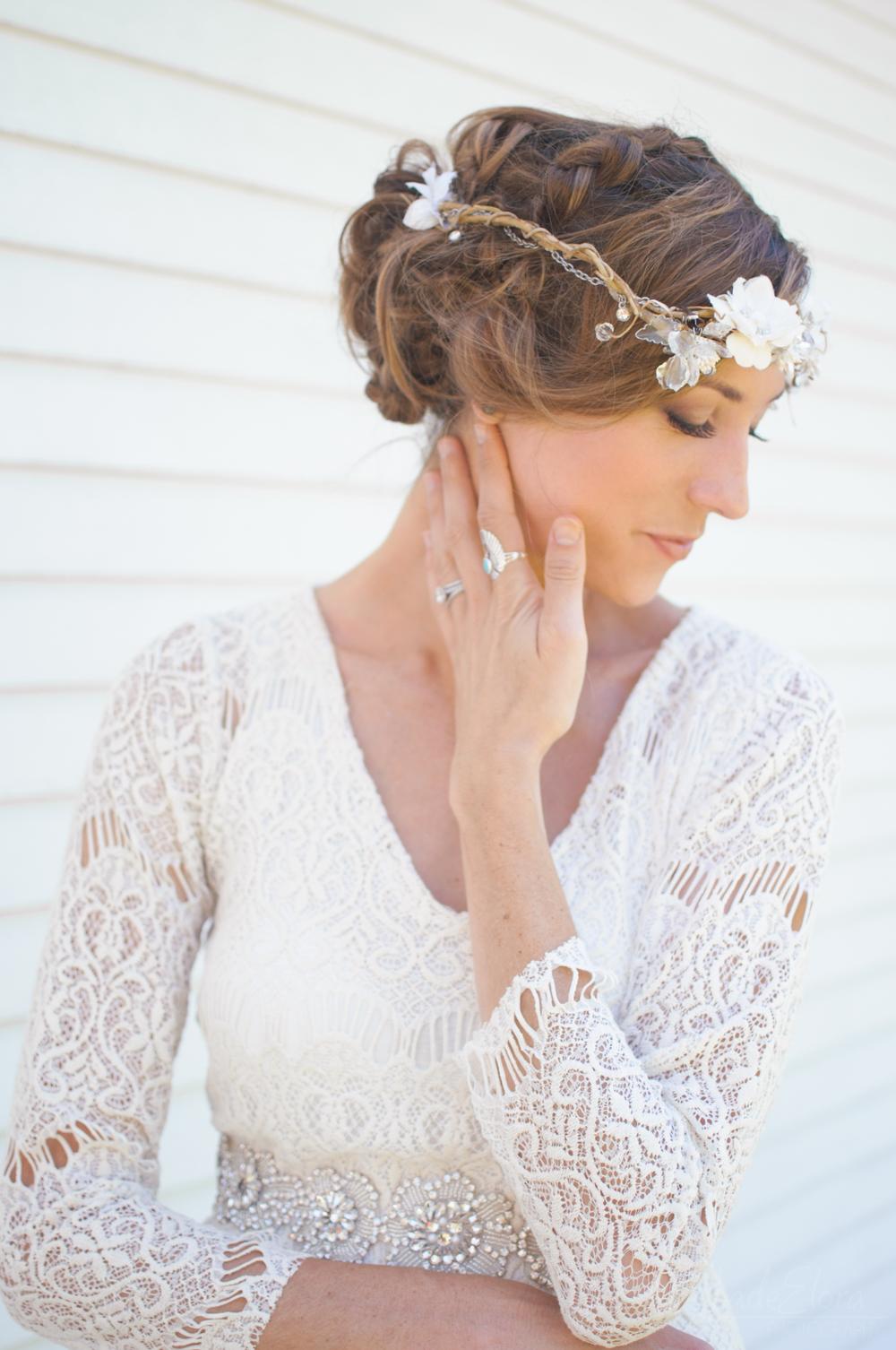 Unique White Bridal Portrait