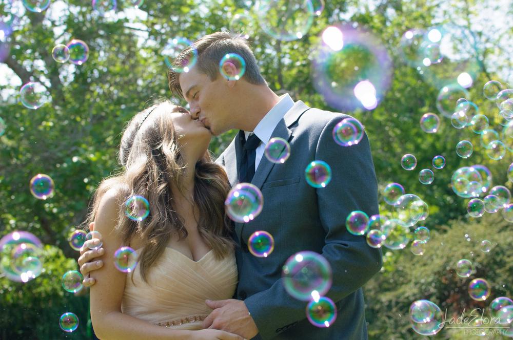 Fun Bubble Wedding Photo