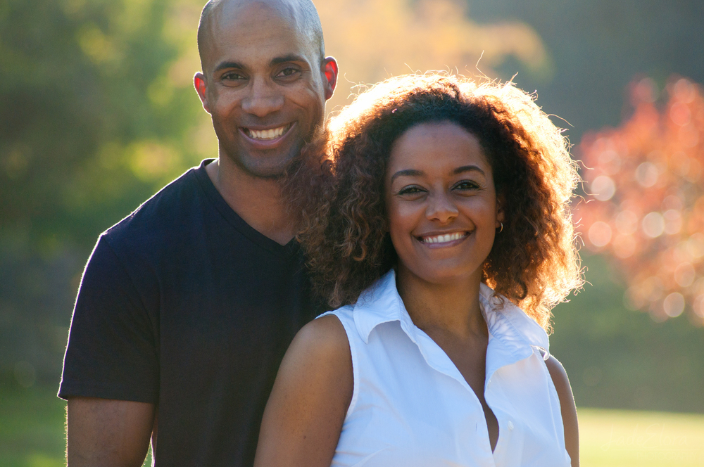 Cute Couple in Fall at LA Arboretum