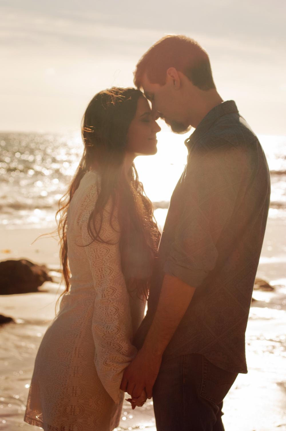 Golden Intimate Beach Silhouette