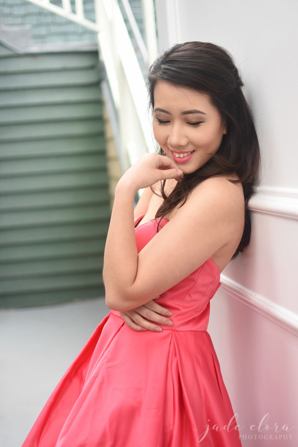 Hot Pink Dress Model Portrait