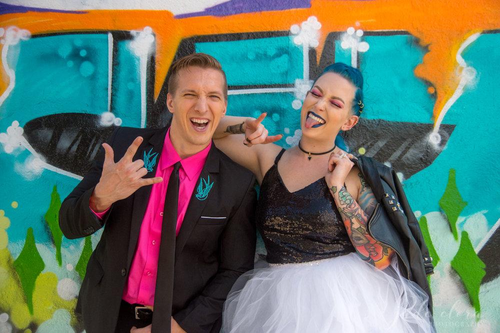 Colorful Punk Rock Wedding