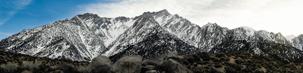 One of the several panoramic images I took during my trip to the Lone Pine campgrounds at the base of the mountain.