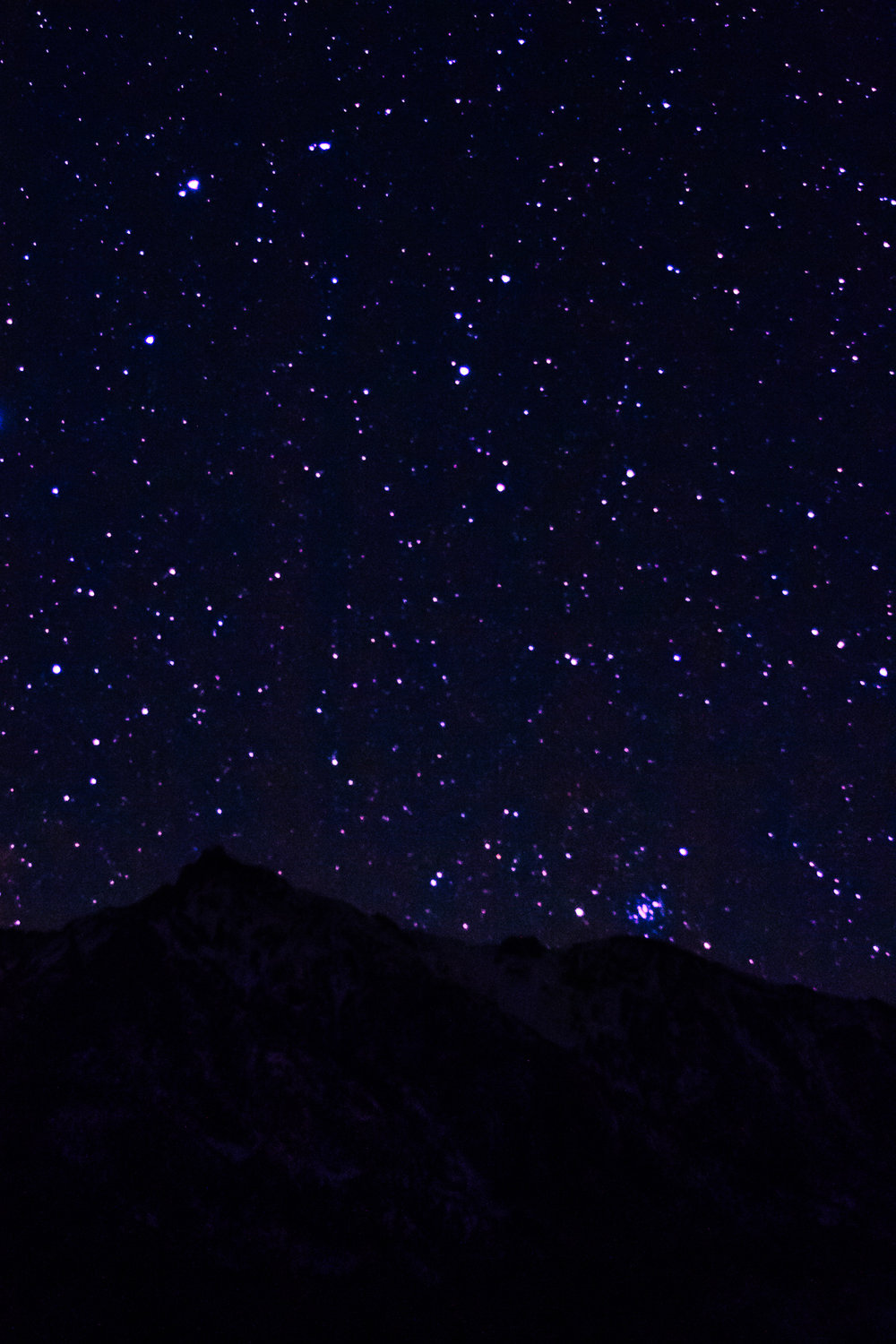 Stars over the Sierra Nevada's, one of the things I wanted to try was astrophotography.  I'm never really in a place dark enough to take photos of stars so I was sure to take advantage of this opportunity and got up at 2:30am to get a few photos.