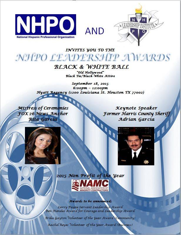 Rita was the MC for the 2015 NHPO Leadership Awards Ball.