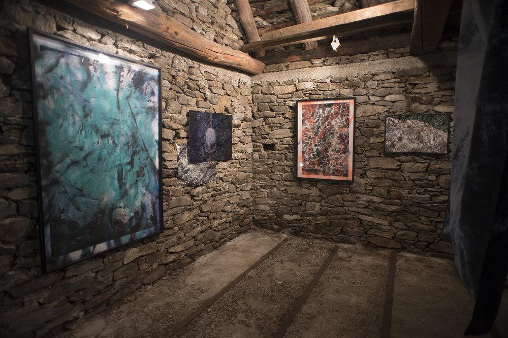 Exhibition space - Tech dar Giacomina - Sonogno, Switzerland MAYA ROCHAT A Rock is a River www.mayarochat.com