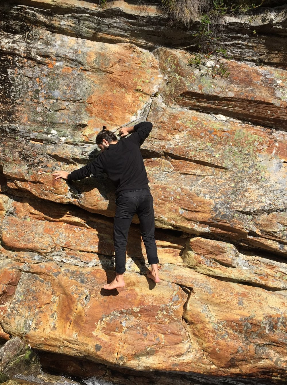 climbing rocks  (photo Jagoda Wiesnewska)