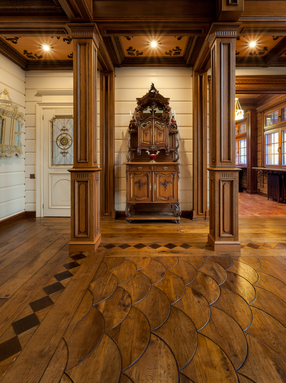 Russian Estate Custom Wood Floor Reclaimed Oak Dovetail