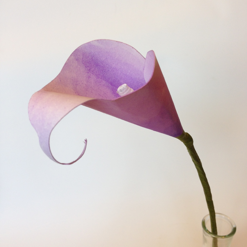 Paper Calla Lily *hand painted