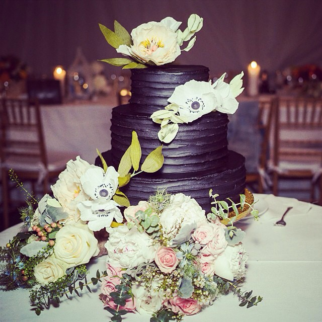 Regram from @ovenly and our first 3-tiered cake collaboration! #weddingcake #paperflowers #weddingcakeflowers