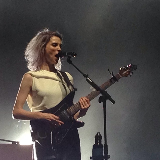 Today's #inspiration is definitely coming from this incredible #artist #annieclark of #stvincent at celebrate Brooklyn. (at Prospect Park Bandshell)