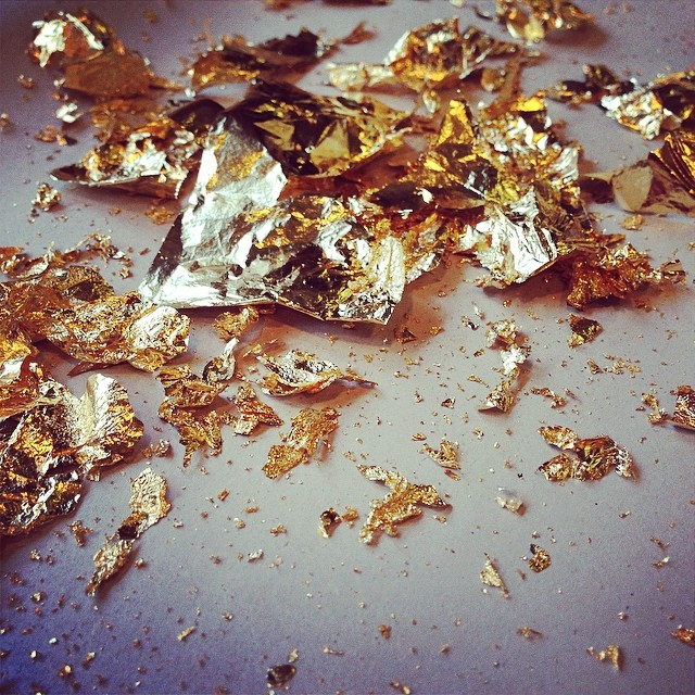 24k #goldleaf bling in the studio today