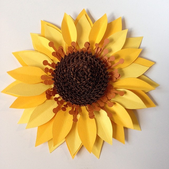 A #paperflower #sunflower for this beautiful day!