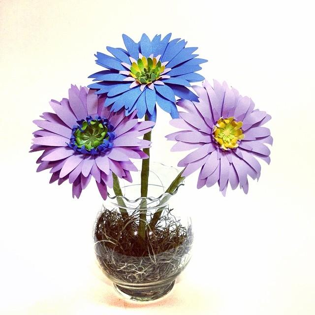 Paper Gerbera Daisies #paperflowers #handmade #gerberdaisy