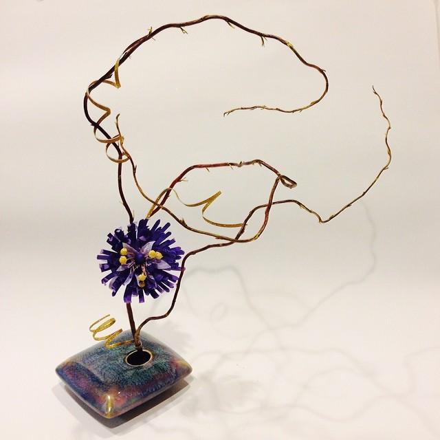 Ikebana, paper flower style