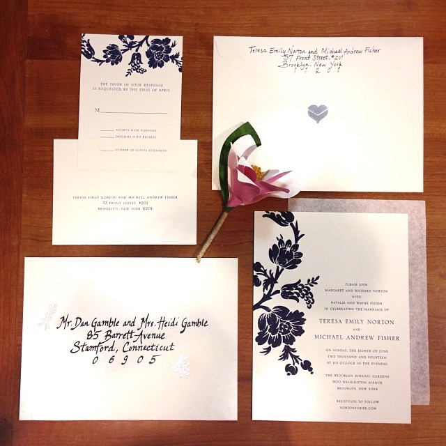 Addressed. Embossed. Stuffed and Sealed. #weddinginvitations handled by #paperportrayals