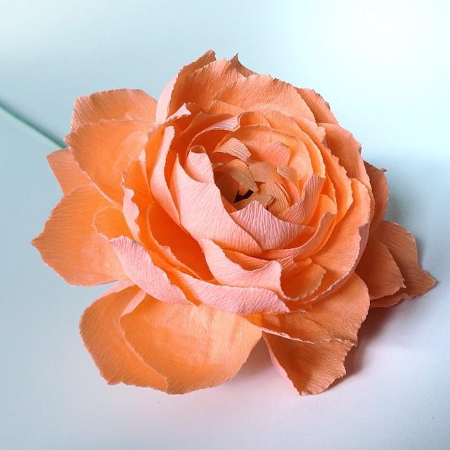 Peach dahlia #paperflower