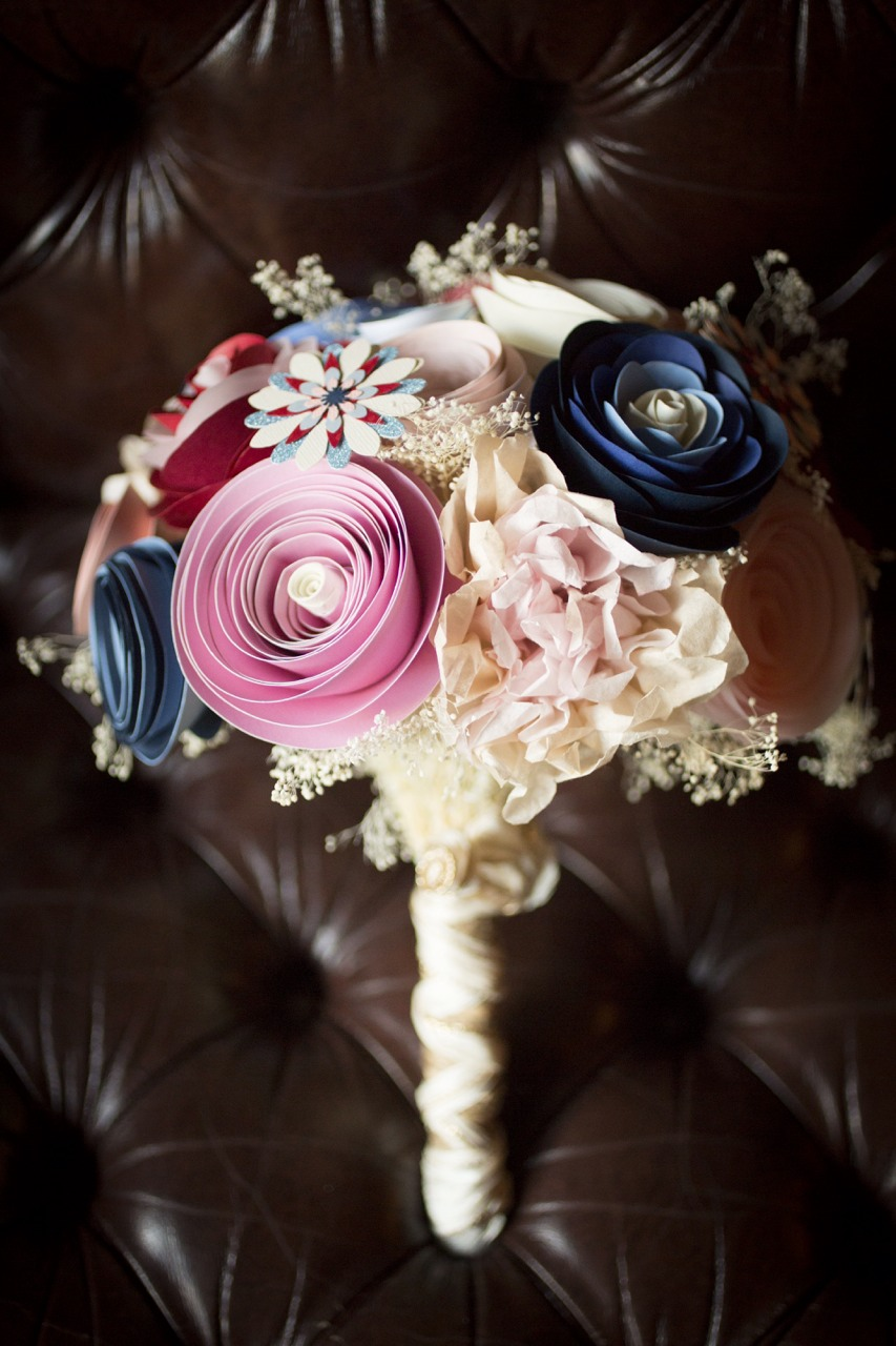 Gorgeous paper flower wedding bouquet by PaperPortrayals