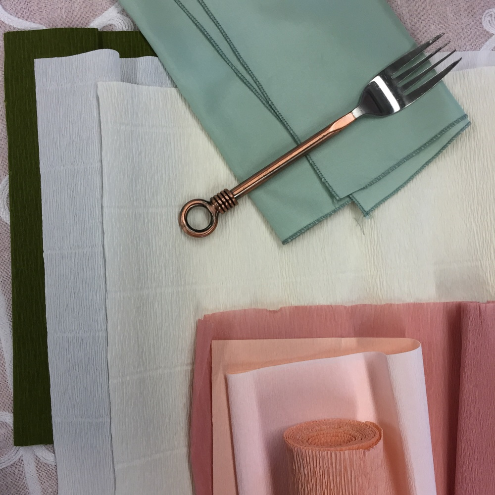 Choosing the colors, table and flatware for our July Tabletop Takeover