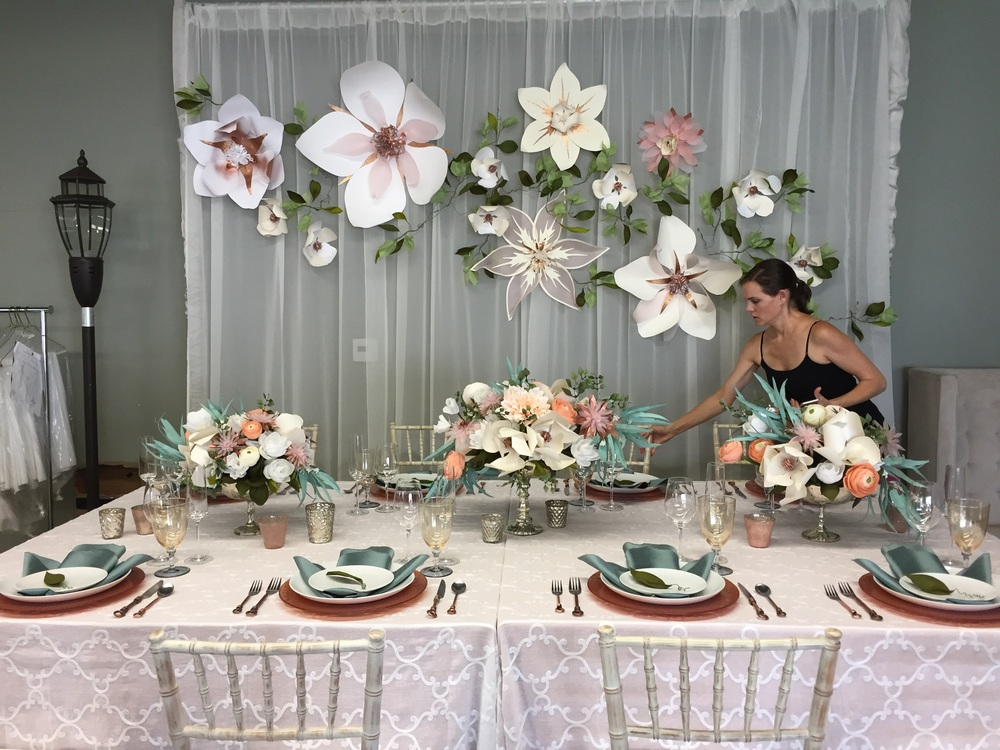 Finishingtouches by Carolyn on the table. Dynamite.