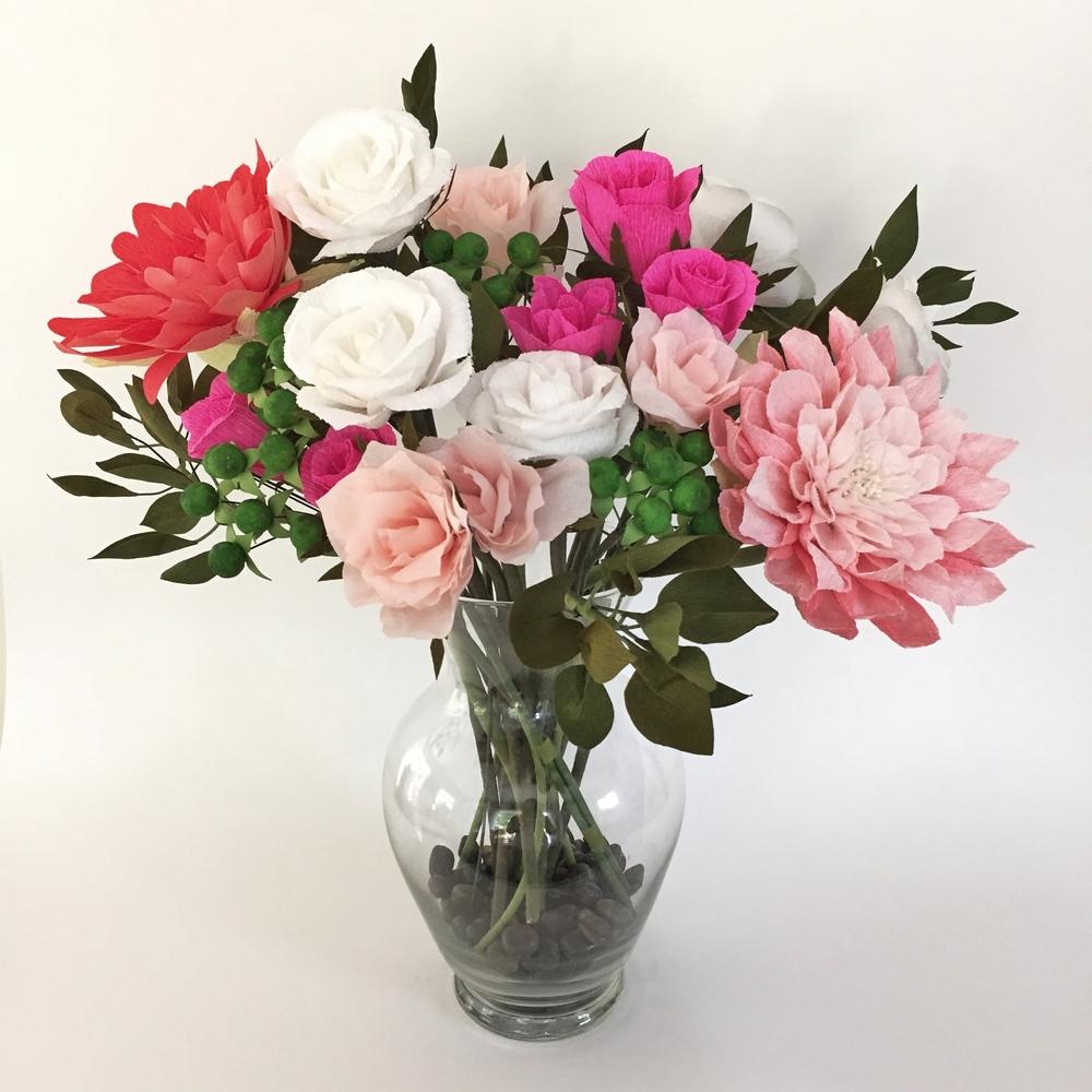Paper Flower Replica Bouquet